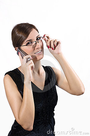 Young girl on cell phone