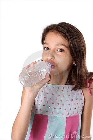 Young Girl / Child with Bottle of Water