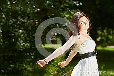 Young Girl Chilling In Green Park Outdoors Stock Photography - Image: 25344792