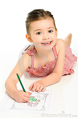 Young Girl Coloring