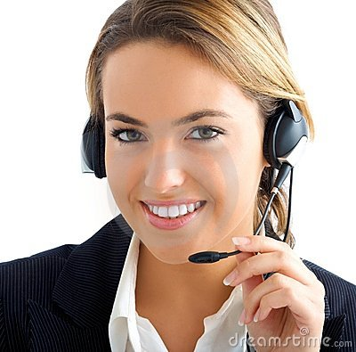 Young girl in customer service