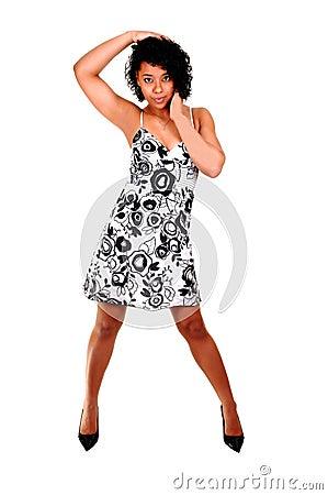 Young girl dancing.
