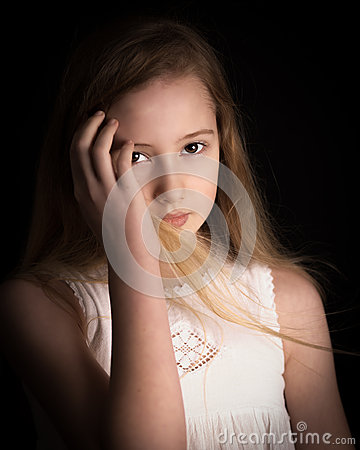 Free Young Girl Dreaming Stock Image - 42749991