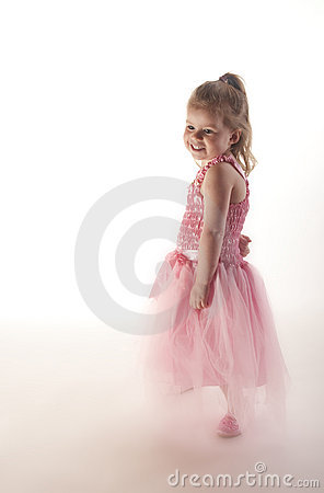 Young girl dressed in fairy princess costume