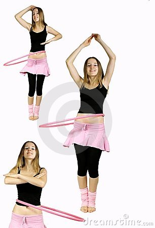 Young girl exercises