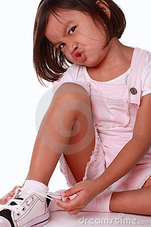 Young girl expressing frustration