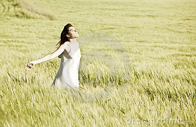 Young girl in field