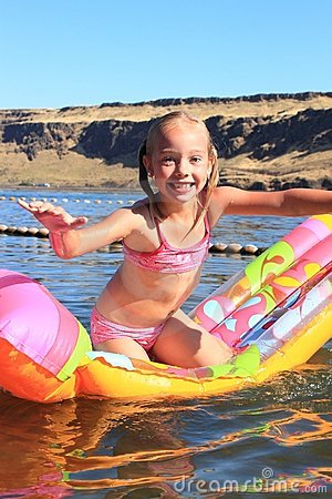 Young Girl on a Floaty