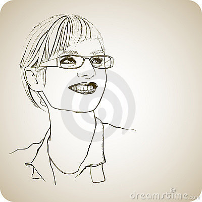 Young girl in glasses with a smile