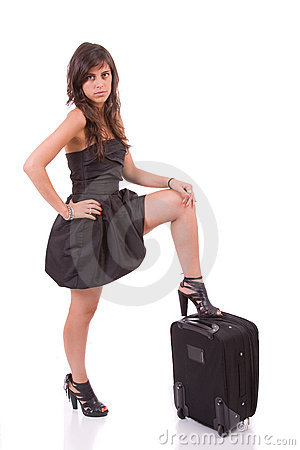 Young girl, going on vacations