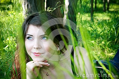 Young girl in the grass