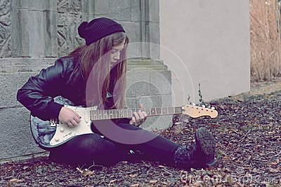 Sad Girl Guitar Stock Photos, Images, & Pictures – (102 Images)