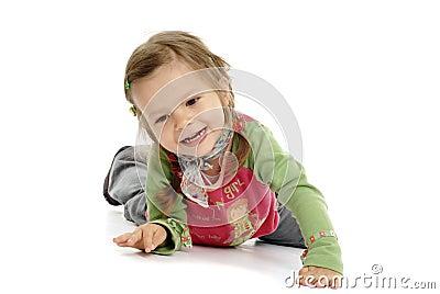 Young girl having fun