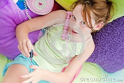 Young girl hearing surprising news