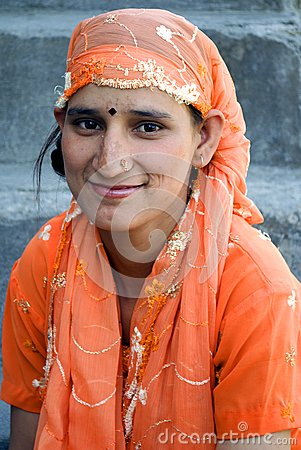 Young girl of Himachal in India Editorial Image