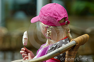 Young girl with icecream