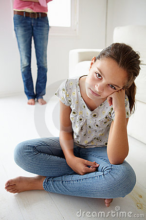 Free Young Girl In Trouble With Her Mother Stock Photo - 21021930