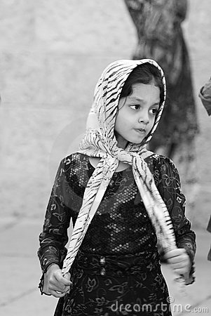 Young girl in Jerusalem Editorial Stock Image
