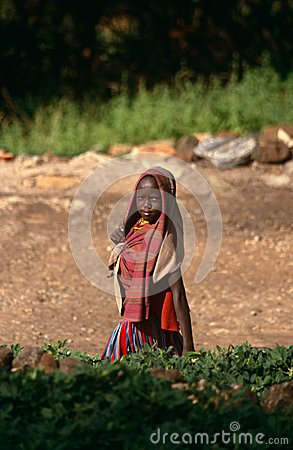 A young girl, Karamoja, Uganda Editorial Image