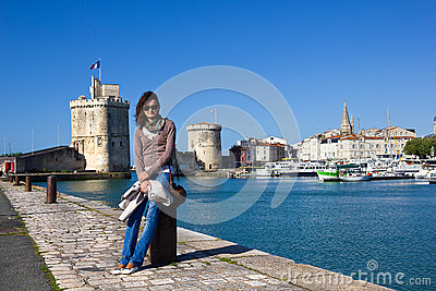 Young girl at La Rochelle