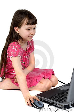 Young Girl On a Laptop