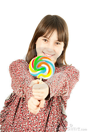 Young girl with lollipop