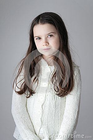 Young Girl with long hair