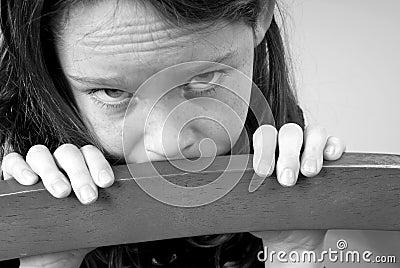 Young Girl Looking Sad