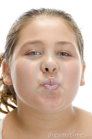 Free Young Girl Making Pout Mouth Stock Image - 6618811