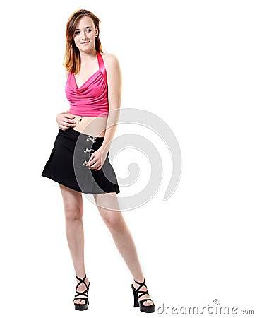 Young girl in modern fashion