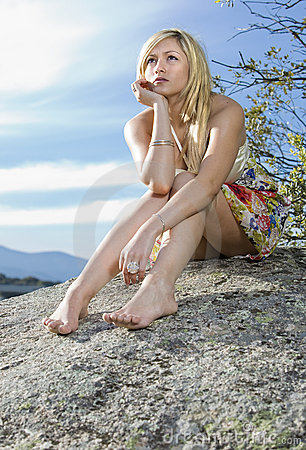 Young girl in the nature