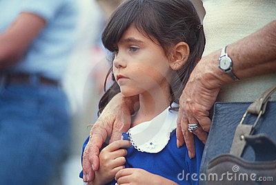Young girl with parent Editorial Photography