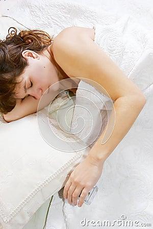 Young girl peacefully sleeping