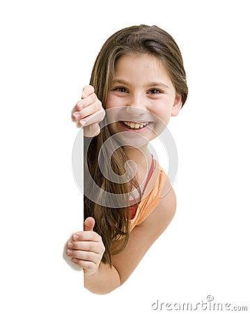 Free Young Girl Peeking Royalty Free Stock Photography - 15869187