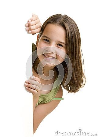 More similar stock images of ` Young girl peeking `  Girl
