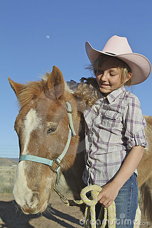 Young Girl and Pony
