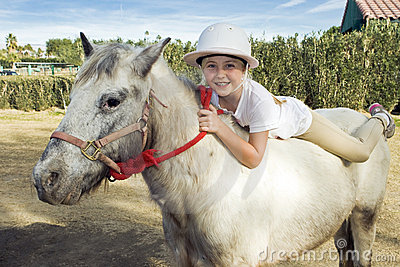 Young Girl on a Pony