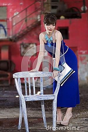 Young girl posing