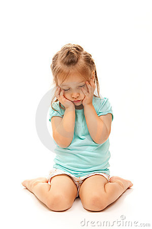 Young Girl Posing Sad