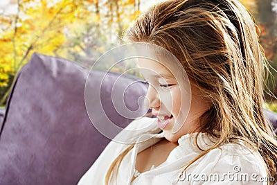 Young girl profile
