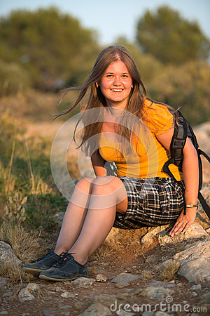 Young girl resting