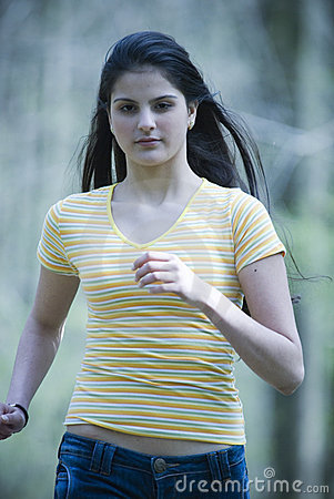 Young Girl Running Royalty Free Stock Images - Image: 2488779
