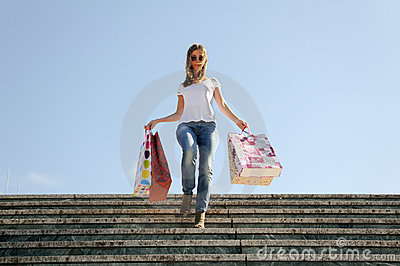 Young girl shopping