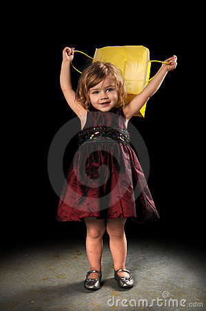 Young Girl With Shopping Bag Royalty Free Stock Photo - Image: 9640465