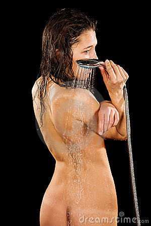 Young girl in shower