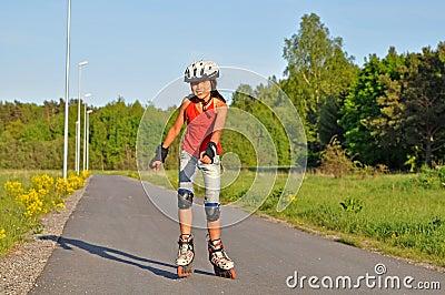Young girl skating