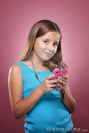 Young Girl With Smart Phone