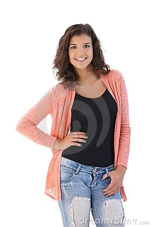 Young girl smiling posing