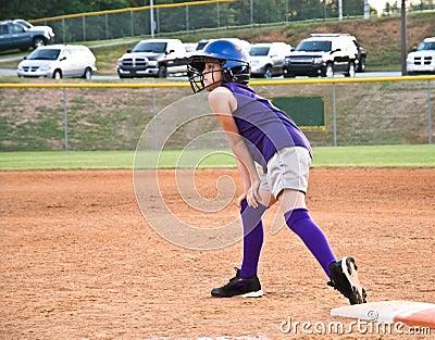 Young Girl Softball