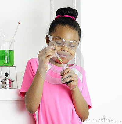 Student samples a prepared mixture